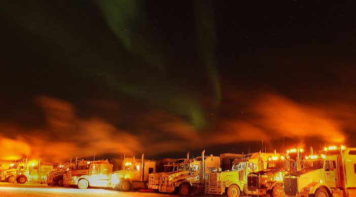 Yellowknife Base Camp Ice Road 2016